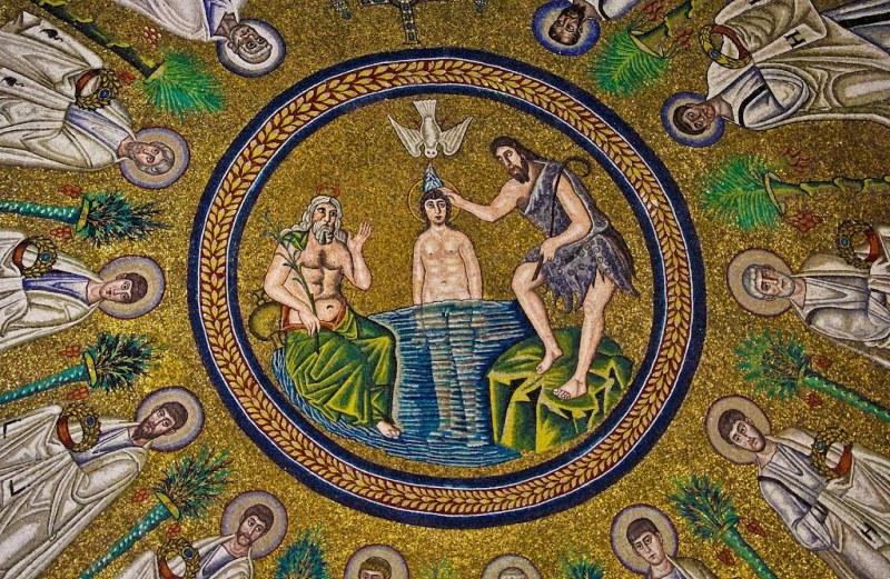 Battesimo, battistero degli Ariani Ravenna