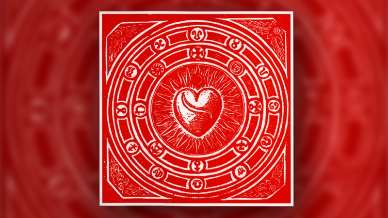 cuore disegno ferita sole raggiante rosso