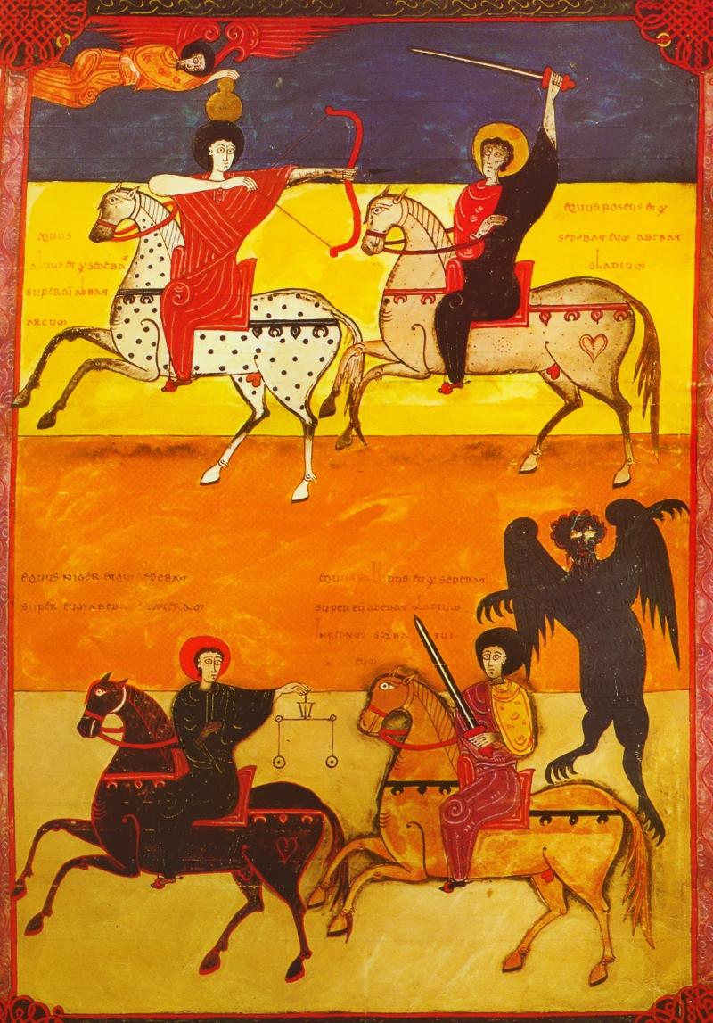 Quattro cavalieri apocalisse beato liebana